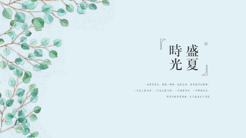 日系小清新手绘文艺工作总结计划通用【优选ppt可编辑
