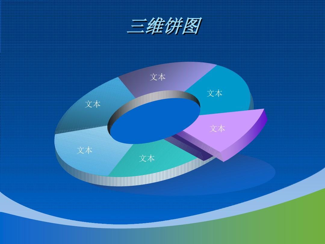 商务ppt模板 蓝绿波浪设计_word文档在线阅读与下载图片