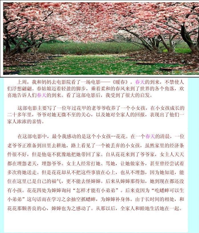 春天小报春之韵小报图片