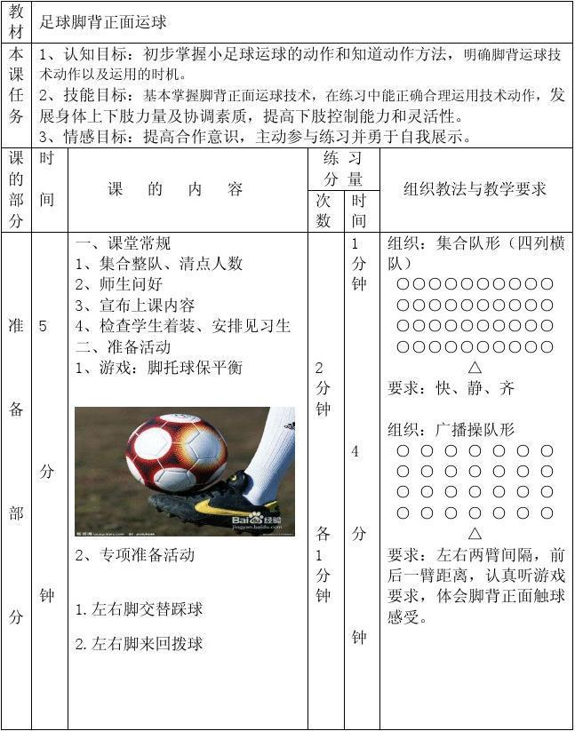 初中足球运球教案_足球变向运球教案_足球变向运球教案