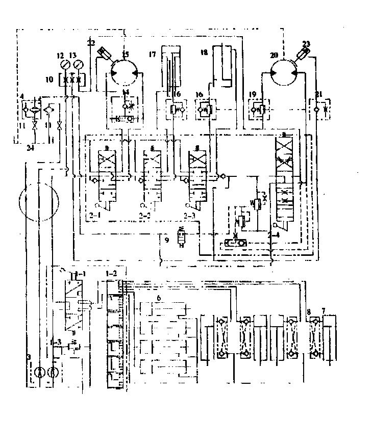 变幅油缸;19.平衡阀;20.起升马达;21.图片