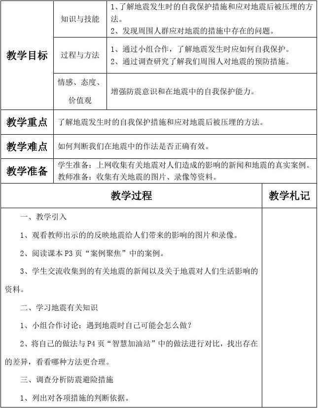 上海科技教育出版社六年级综合实践教案(上册)