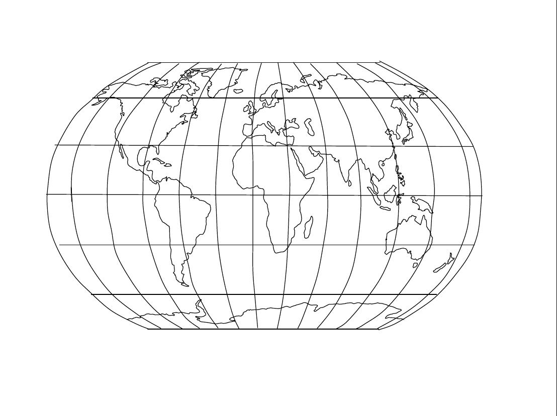 空白世界地图档