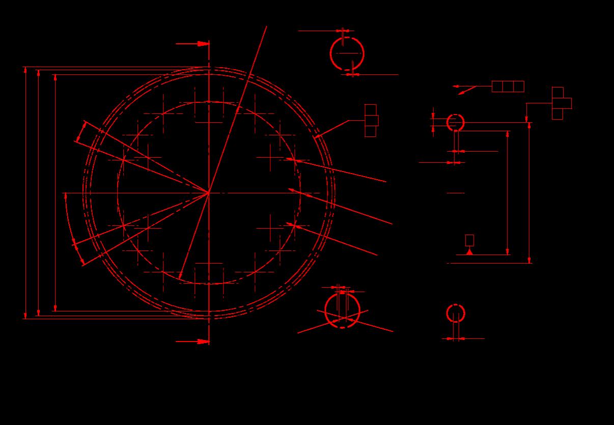 夹具链轮2加工杠杆图纸设计图片
