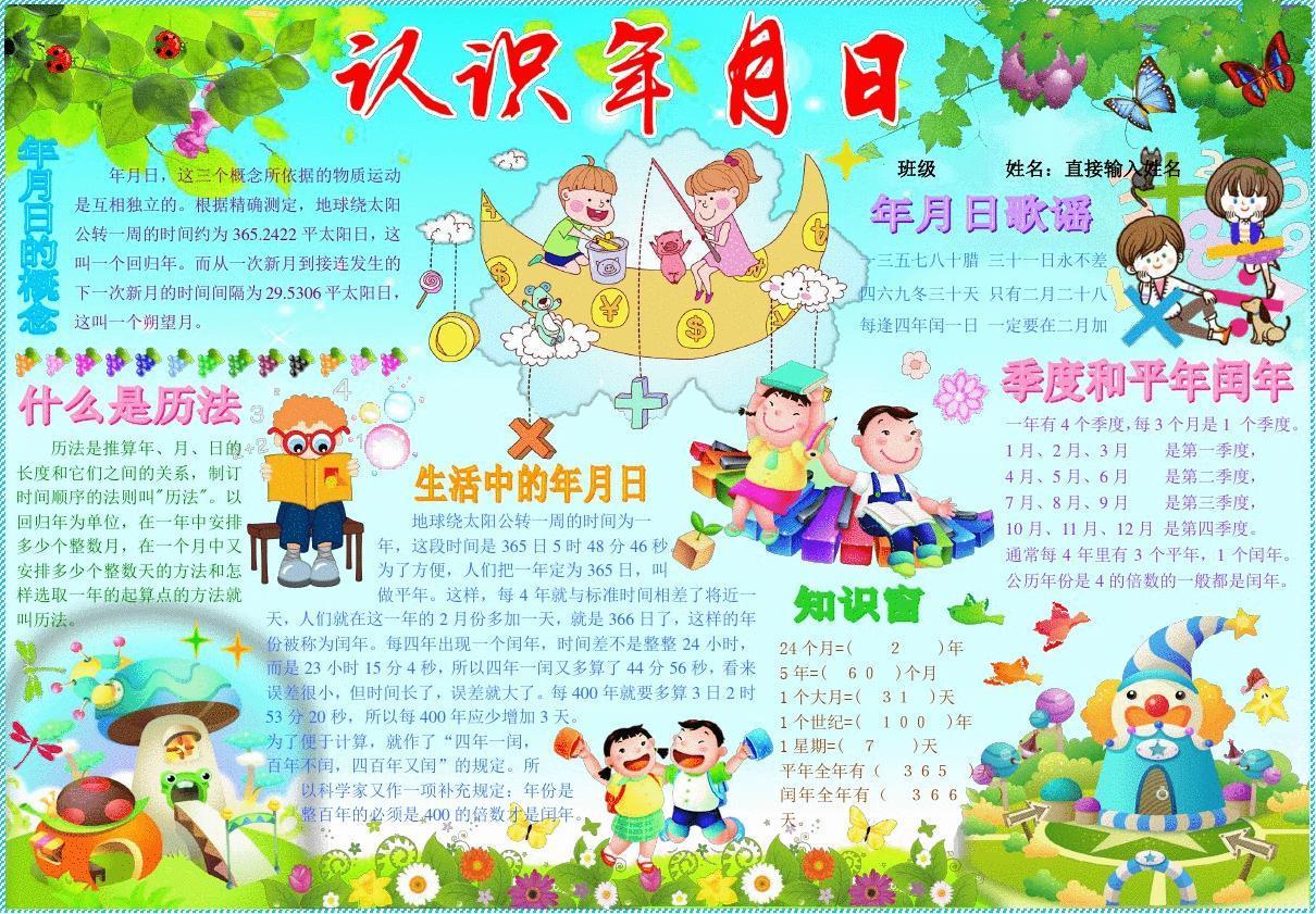 欢度春节手抄报模板,新年快乐电子简报,小学生传统节日板报