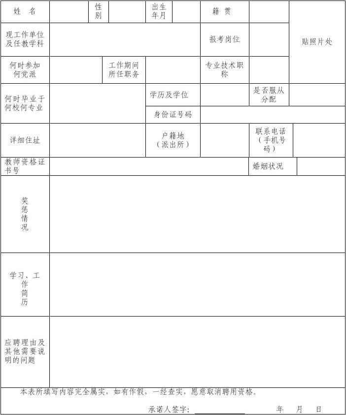 宁波市爱菊艺术学校v艺术小学教师报名登记表_广州小学哪些图片