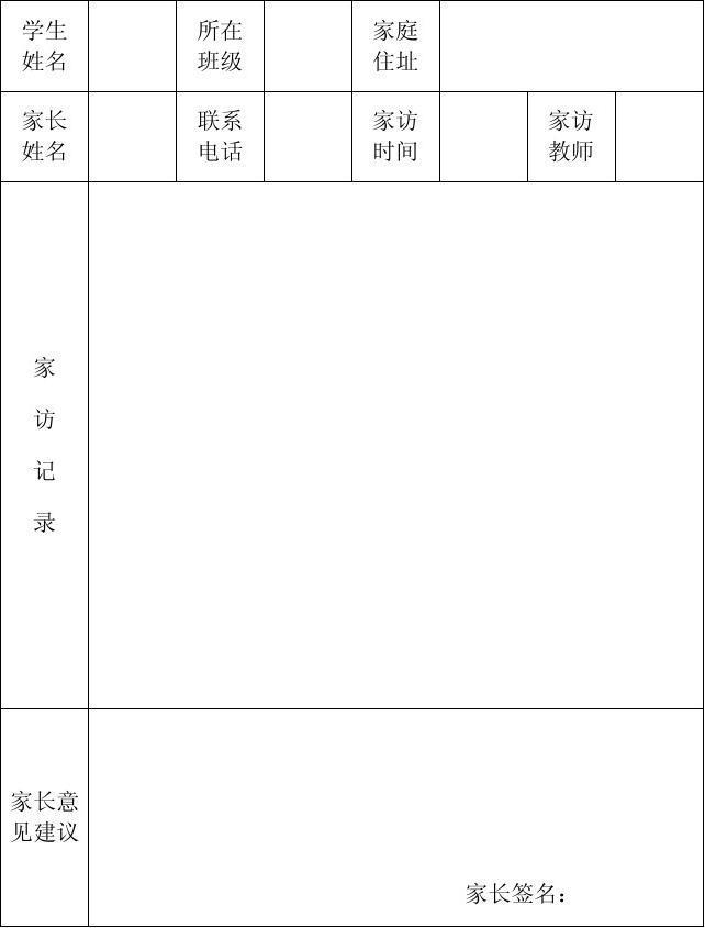 韩庄小学万家高中访万名议论记录表_word文档作文家访教师谦让800字图片