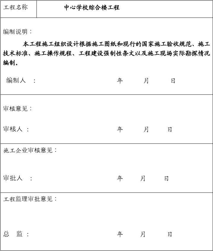 县青山中学教学楼施工组织设计