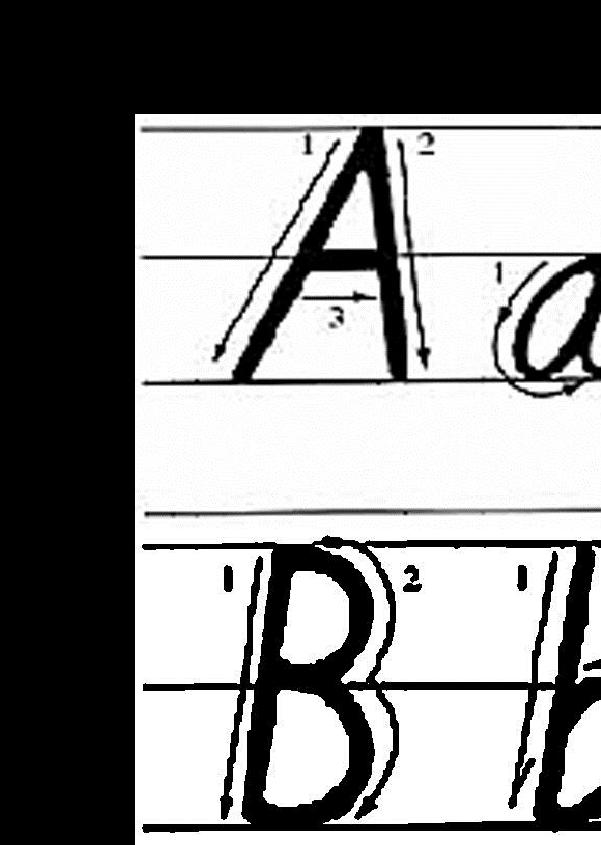 26个英文字母(大小写,有格子,两个一页,可直接打印)图片