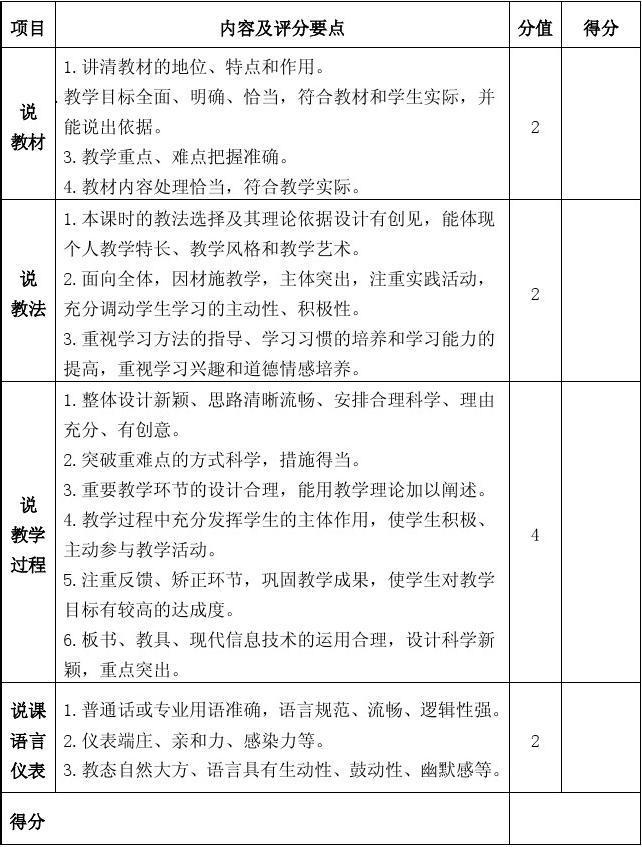 幼儿园公开课教案表_幼儿园说课评分表_文档下载