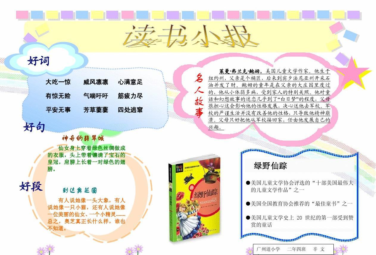 读书小报电子版(绿野仙踪)图片