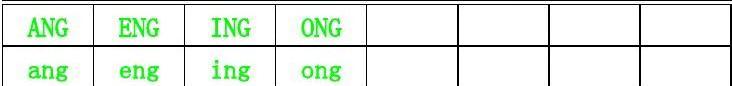 汉语拼音声母韵母(大小写对照)