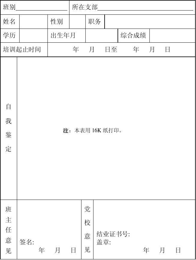 【入党培训个人小结】