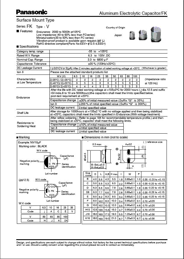 EEVFK0J471P中文资料