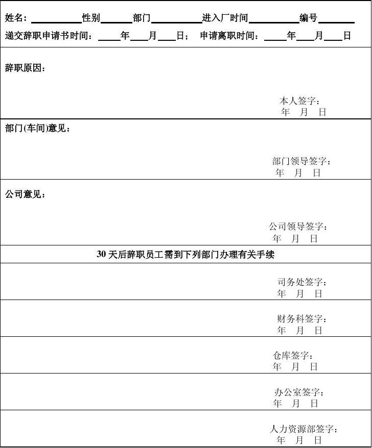 解除行政记过申请书_员工辞职申请表_word文档在线阅读与下载_无忧文档