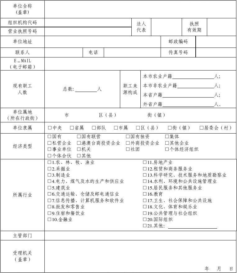 劳动合同台账范本_劳动用工备案单位资料登记表1_word文档在线阅读与下载_无忧文档