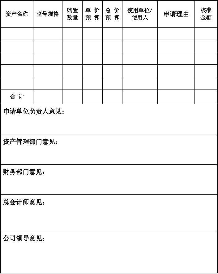 固定资产管理表格带附件空表最全