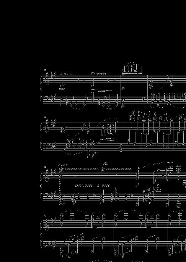 彩云追月钢琴谱(带指法)图片