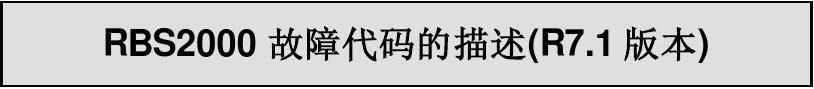 RBS2000告警速查表(中文)