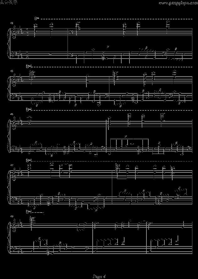天空之城郭静钢琴谱分享展示图片