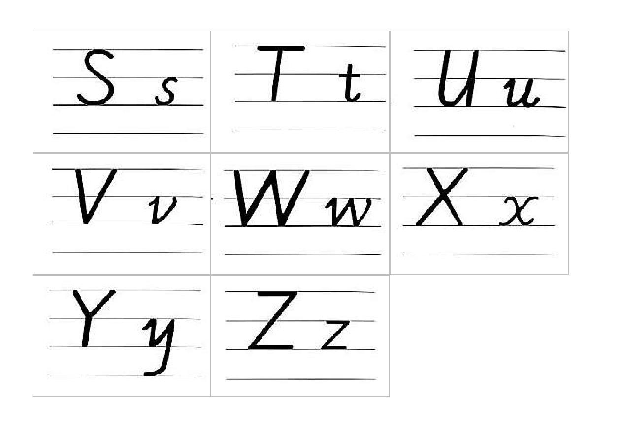 英文字母手写体图片
