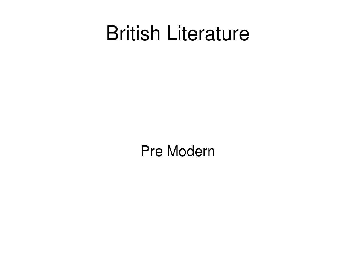 British literature 2013 英国文化