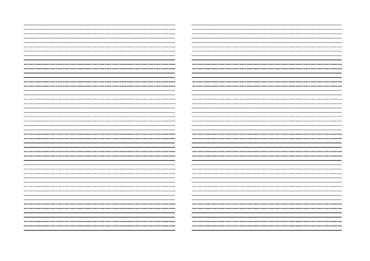空白三线格 英语 练习 练字 可直接打印
