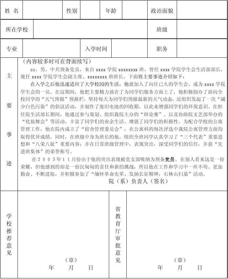 三好班集体事迹材料_省级优秀学生、干部 申请 事迹材料_文档下载