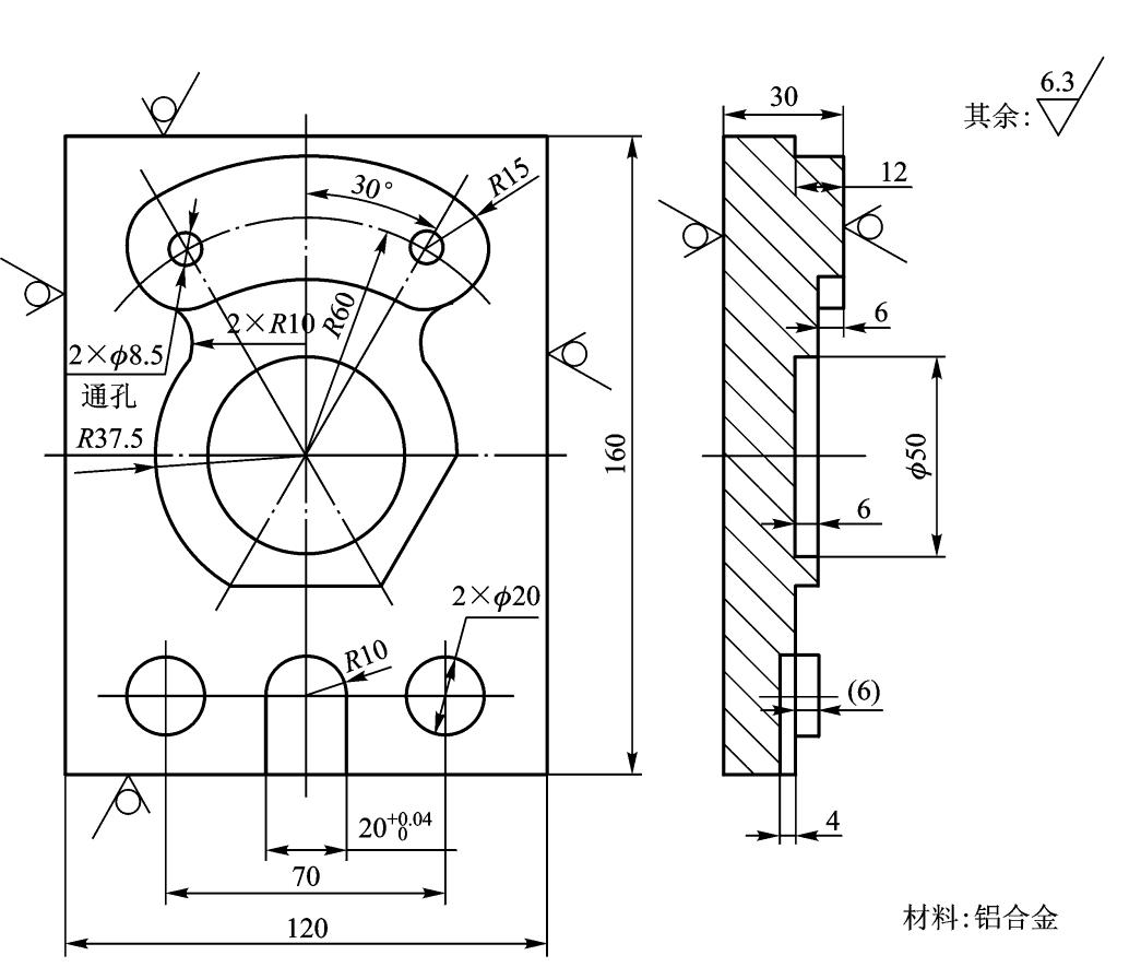 数控铣床v图纸图纸工程图纸讲解图片