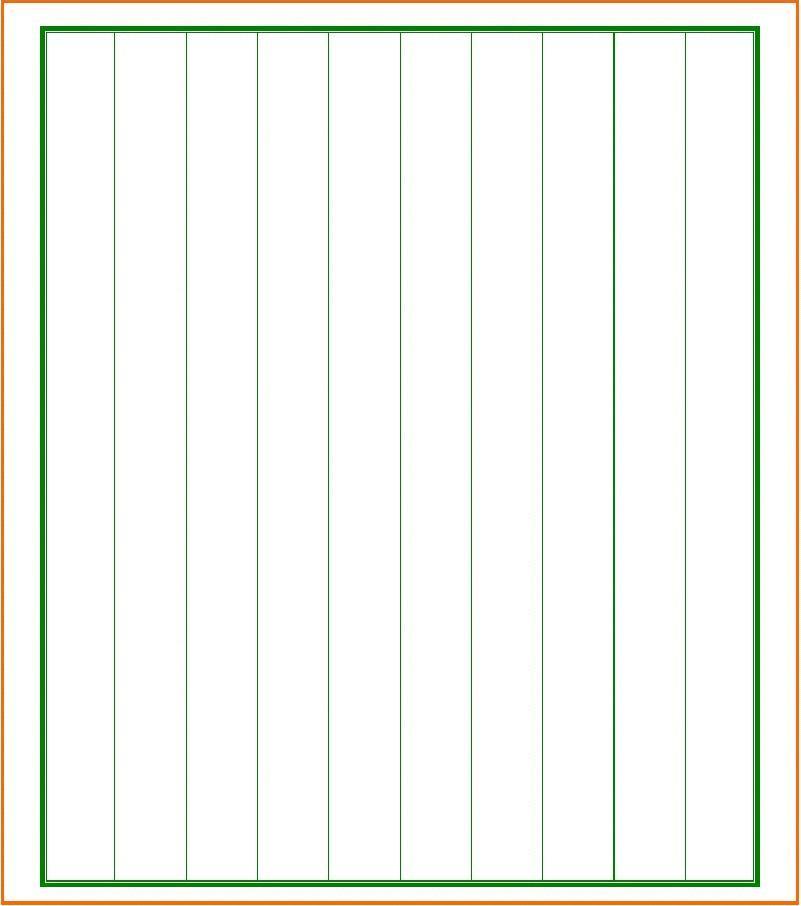 硬笔书法用纸格式6(竖格横页)图片