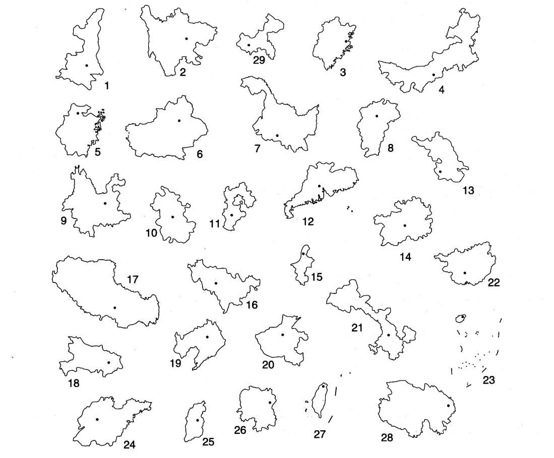 中国地图空白图