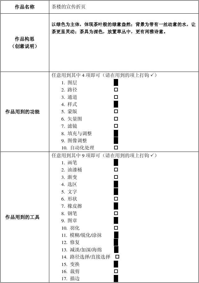 ps四折页制作报告