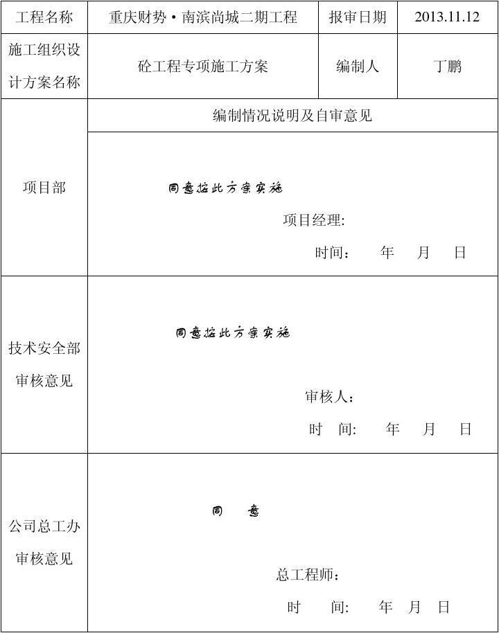公司审核表