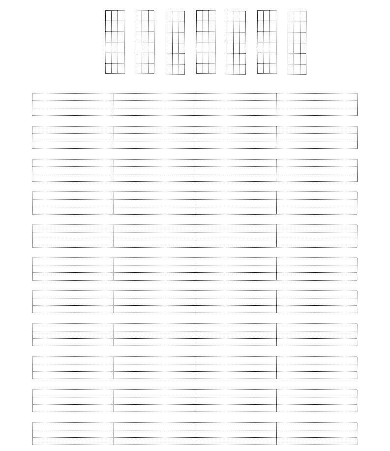 ukulele空白四线谱图片
