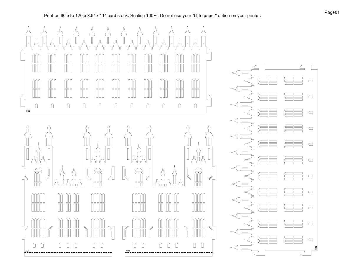 纸雕图纸--威斯敏斯特宫