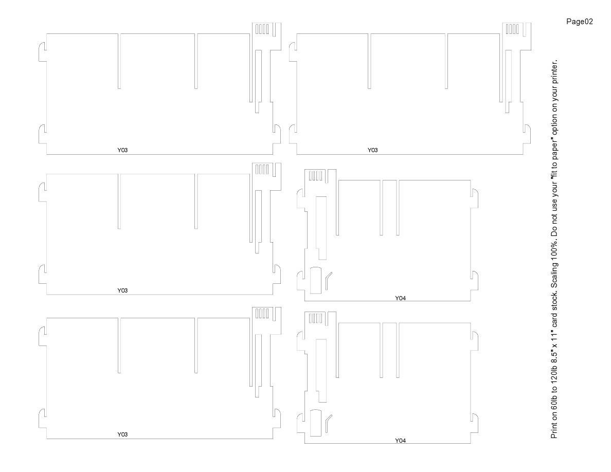 纸雕图纸-美国国会