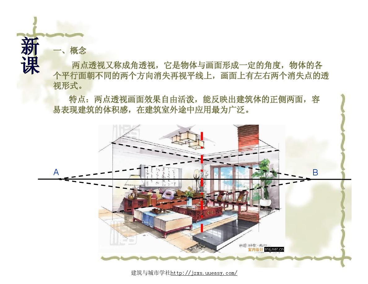 两点透视室内效果图,两点透视画法,室内设计手绘教程视频,室内设计