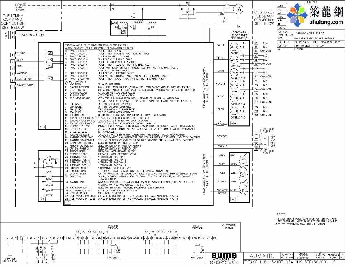 德国auma电动执行机构电气原理图图片