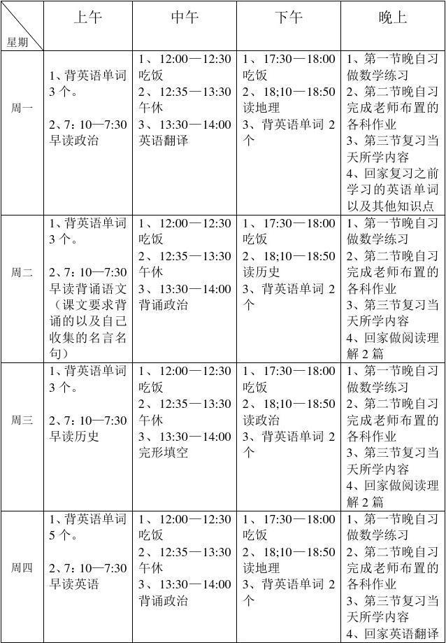 高中文科生学习计划_word文档在线阅读与下载