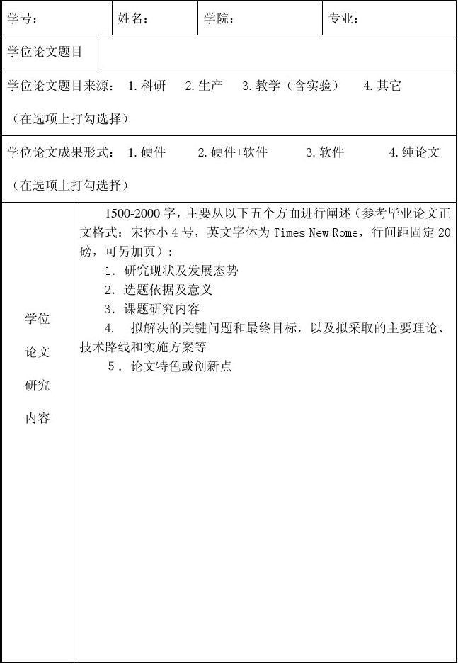 3.毕业设计(论文)开题报告表格式_word文档在