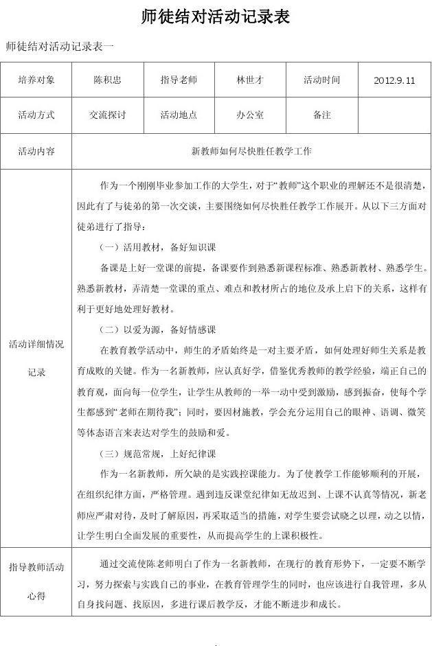 陈积忠师徒结对活动记录表_word文档在线阅读