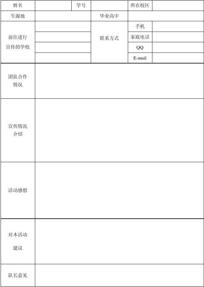 模范教师申报表_优秀志愿者申请表_word文档在线阅读与下载_无忧文档