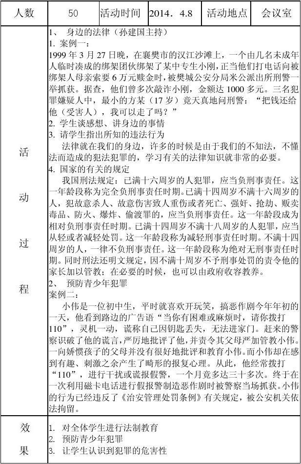 成集学校法制宣传教育活动记录表课件下载去年的树图片
