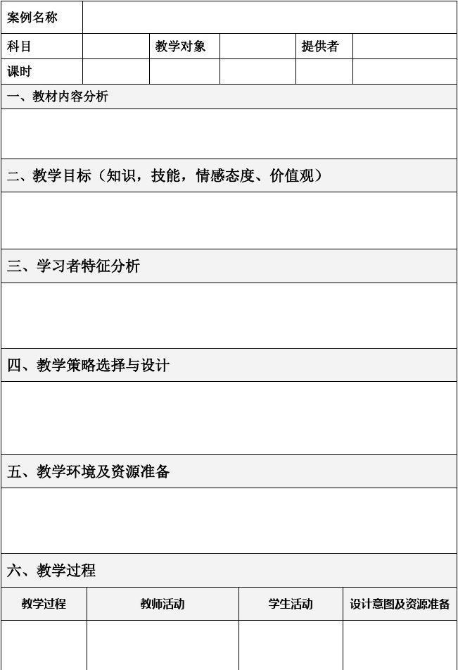 初中政治教研计划_表格式教学设计方案模板[2]_文档下载