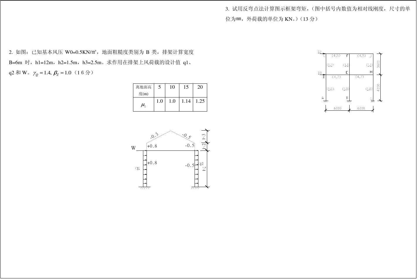 常州工学院钢筋砼与砌体结构试卷1答案图片