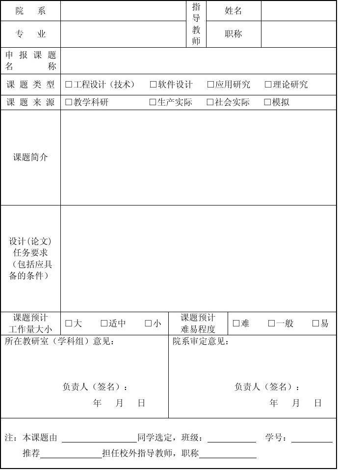 会计学专业求职简历_毕业设计(论文)选题审题表_文档下载