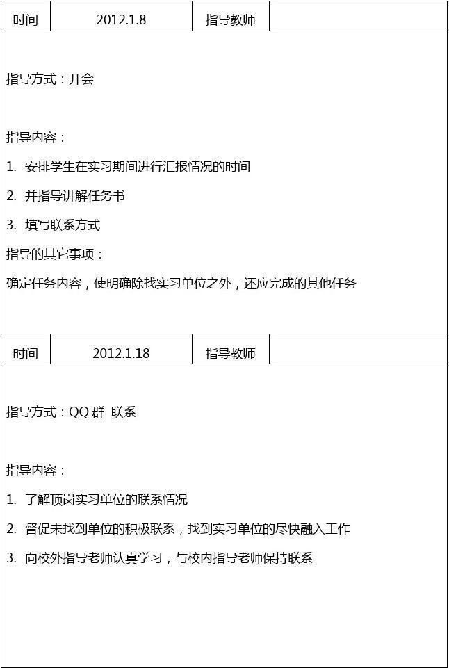 指导青年教师记录表_教师指导记录_文档下载