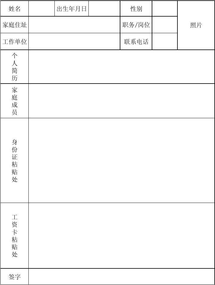 人员信息表