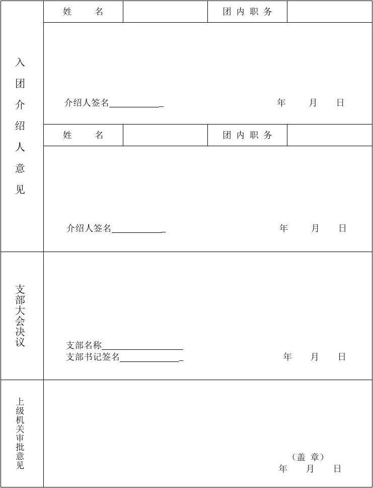 入團志愿書(填寫本人對團的認識等)簡短,100字以內不要太深刻,普通點.圖片