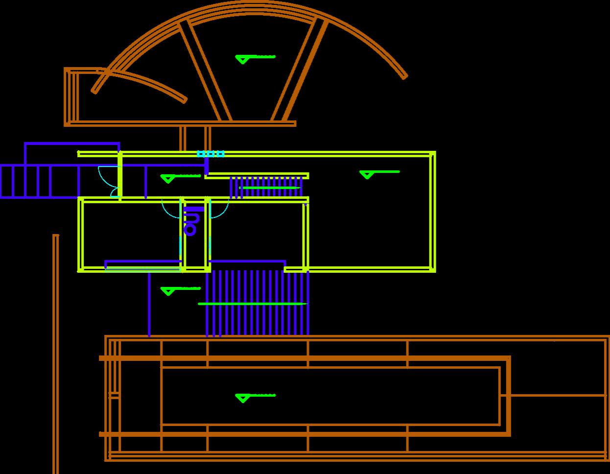 安藤忠雄小筱宅(用CAD标注看到建立)abcad块打开块图片